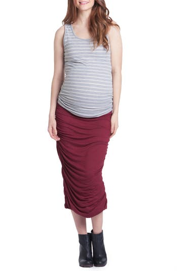 Women's Lilac Clothing Ruched Maternity Tank