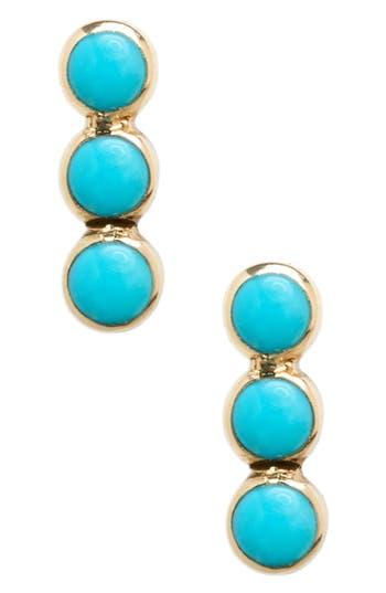 Zoe Chicco Turquoise Stud Earrings