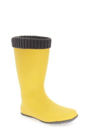 Dav Weatherproof Rain Boot, Yellow