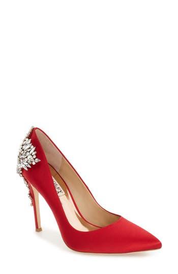 Women's Badgley Mischka 'Gorgeous' Crystal Embellished Pointy Toe Pump
