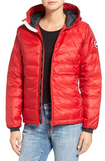 Women's Canada Goose Camp Down Jacket, Size Small (2-4) - Red