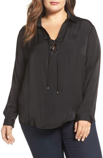 Plus Size Women's Tart Georgia Lace-Up Blouse
