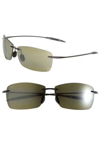 Women's Maui Jim Lighthouse 65Mm Polarizedplus2 Rimless Sunglasses - Smoke Grey