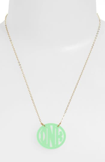 Women's Moon And Lola Small Personalized Monogram Pendant Necklace (Nordstrom Exclusive)