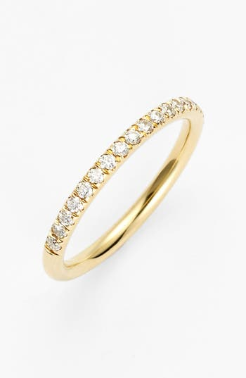 Women's Bony Levy 'Stackable' Large Straight Diamond Band Ring (Nordstrom Exclusive)