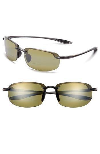 Women's Maui Jim Ho'Okipa 64Mm Polarizedplus2 Rimless Reader Sunglasses - Smoke Grey/ Maui