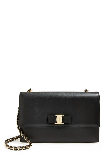 Salvatore Ferragamo Saffiano Leather Shoulder Bag -