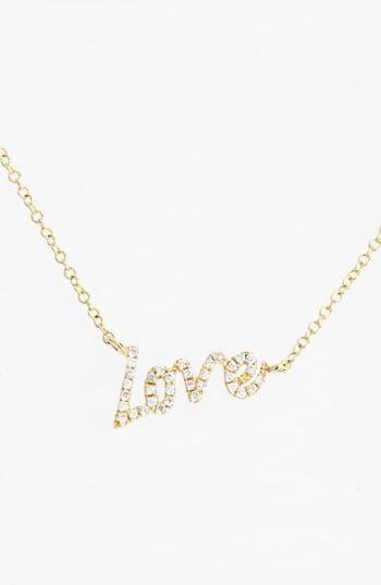 Women's Meirat Dazzling Diamond Love Pendant Necklace