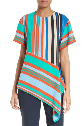 Women's Diane Von Furstenberg Stripe Silk Top