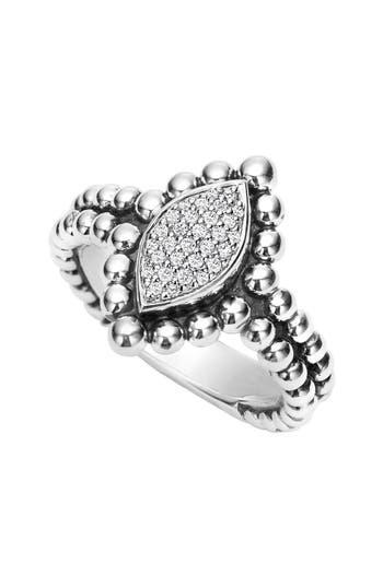 Women's Lagos Caviar Spark Diamond Marquise Ring