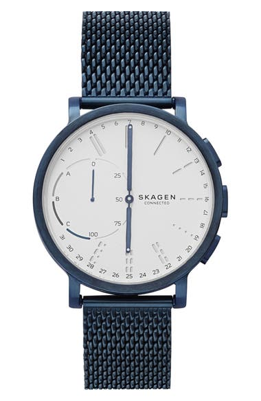 Skagen Watches HAGEN CONNECTED MESH STRAP HYBRID SMART WATCH, 42MM