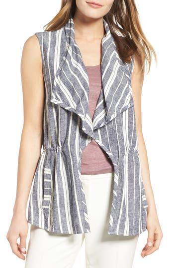 Women's Chaus Stripe Linen Blend Vest