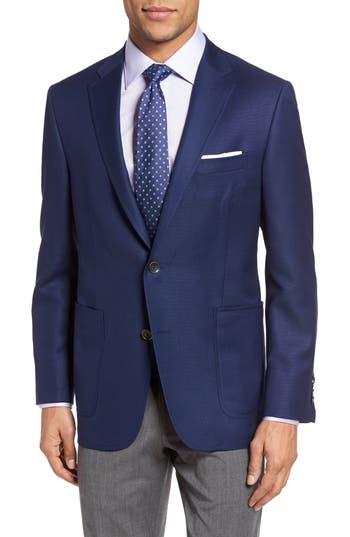 Men's Big & Tall Hickey Freeman Beacon Global Guardian Classic Fit Wool Blazer, Size 50 R - Blue