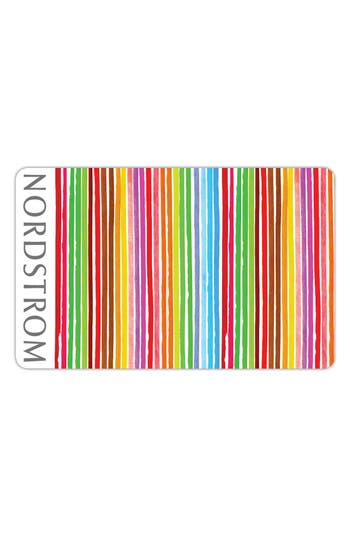 Nordstrom Colorful Stripes Gift Card $750