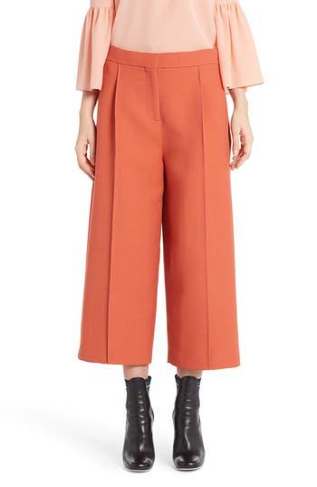 Women's Fendi Wool & Silk Crop Pants
