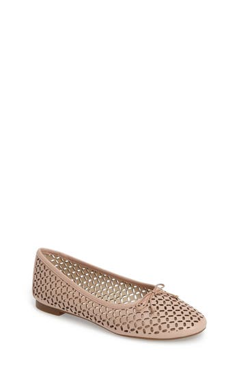 Women's Louise Et Cie Congo Perforated Flat, Size 6.5 M - Beige