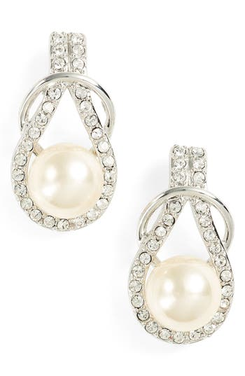 Women's Nina Knot Imitation Pearl Drop Earrings