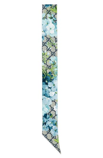 Women's Gucci Gg Blooms Skinny Scarf