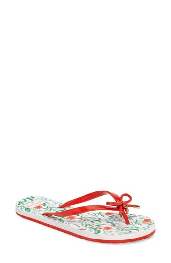 Women's Kate Spade New York 'Nova' Flip Flop, Size 5 M - Red