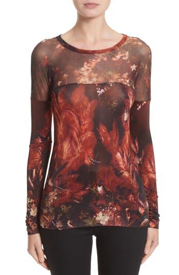 Women's Fuzzi Hummingbird Print Jersey Top