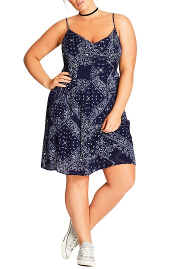 Plus Size Women's City Chic Bandana Slipdress