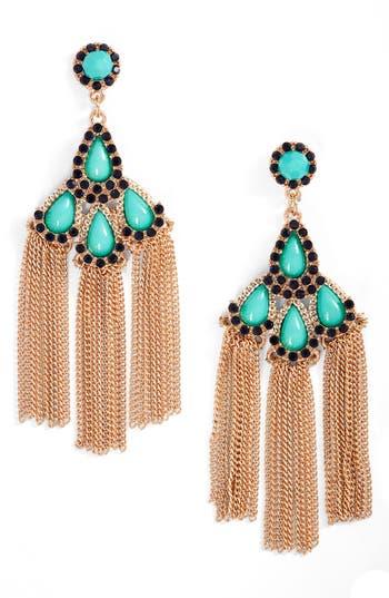 Women's Adia Kibur Chain Fringe Drop Earrings