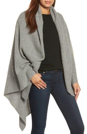 Women's Halogen Cashmere Wrap, Size One Size - Grey