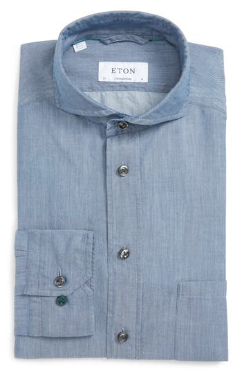 Men's Eton Contemporary Fit Chambray Dress Shirt