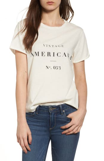 Women's Sincerely Jules Americana Tee, Size Large - Ivory
