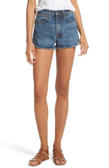 Lou High Waist Cutoff Denim Shorts