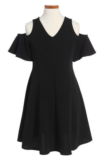 Girl's Soprano Cold Shoulder Skater Dress