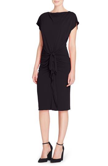 CHAR STRETCH JERSEY SHEATH DRESS