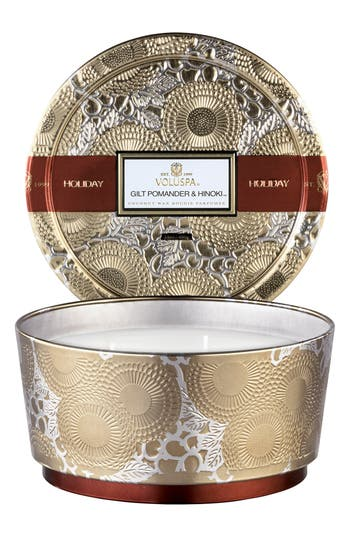 Voluspa Gilt Pomander & Hinoki 3-Wick Candle, Size One Size - None