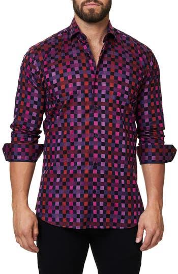 Men's Maceoo Trim Fit Check Print Sport Shirt