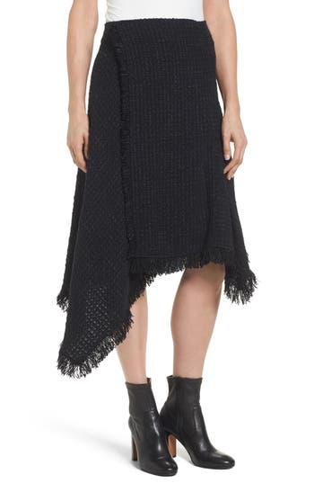 Women's Nic + Zoe Majestic Tweed Skirt, Size Large - Black