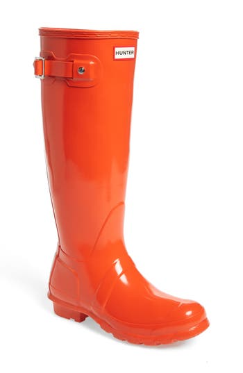 Hunter Original High Gloss Boot, Orange