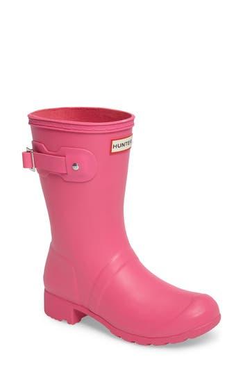 Women's Hunter Original Tour Short Packable Rain Boot, Size 5 M - Pink