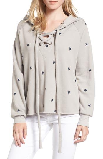 Women's Wildfox Football Star Hutton Sweatshirt, Size Small - Grey