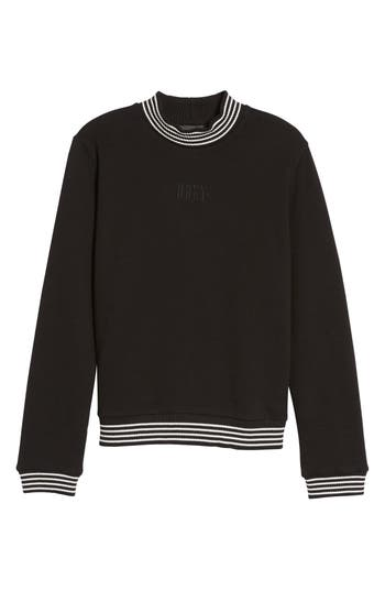 Obey Quinn Mock Neck Sweatshirt, Black