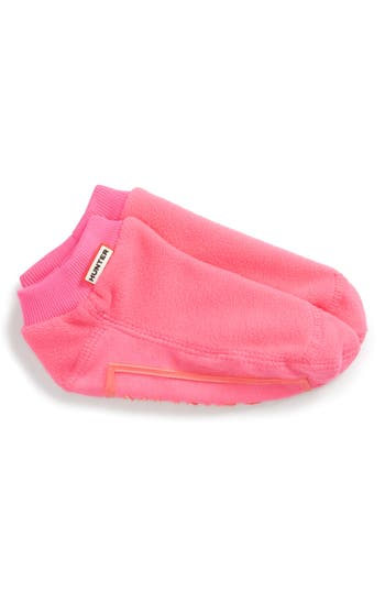 Kid's Hunter Fitted No-Show Socks, Size XL (4-6) - Pink