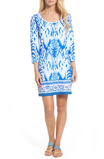 Women's Lilly Pulitzer Beacon Shift Dress, Size Large - Blue