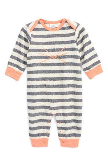 Infant Boy's Egg By Susan Lazar Camden Romper, Size 18M - Grey