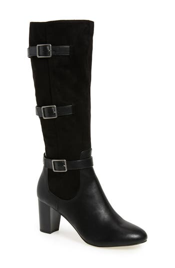 Bella Vita Talina Ii Belted Knee High Boot, Regular Calf N - Black