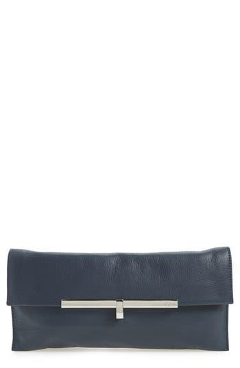 Botkier Bleeker Leather Clutch - Blue