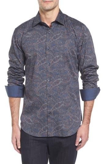 Men's Bugatchi Trim Fit Print Sport Shirt