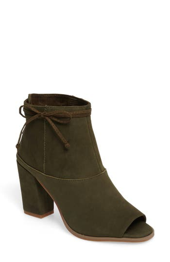 Seychelles Triple Threat Open Toe Bootie- Green