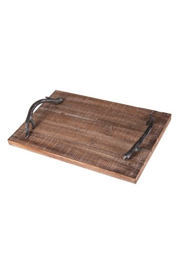 Foreside Wood Tray, Size One Size - Brown