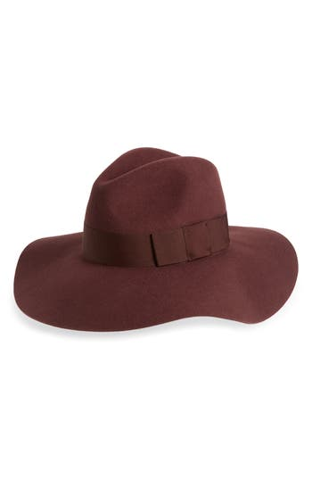 Brixton PIPER FLOPPY WOOL FELT HAT - BURGUNDY