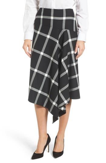 Women's Boss Vilrea Windowpane Check A-Line Skirt, Size 0R - Black