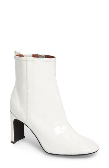 Jeffrey Campbell Chapel Curved Heel Bootie- White